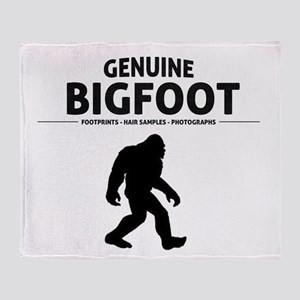 Genuine Bigfoot Throw Blanket