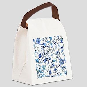 Blue Onion Canvas Lunch Bag
