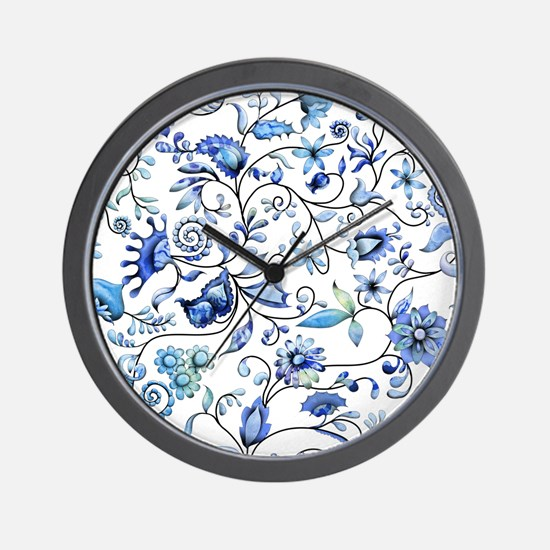 Blue Onion Wall Clock