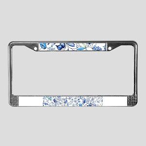Blue Onion License Plate Frame