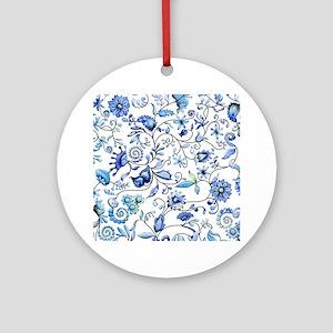 Blue Onion Ornament (Round)