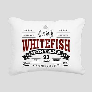 Whitefish Vintage Rectangular Canvas Pillow