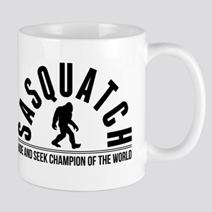 Sasquatch Hide And Seek Champion Of The World Mugs
