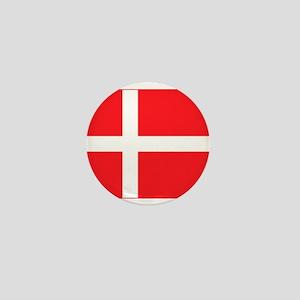 denmark flag Mini Button