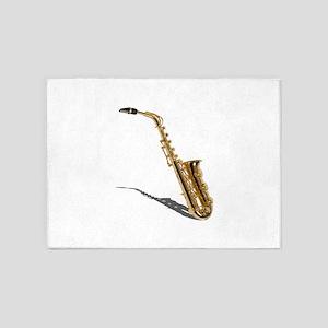 Saxophone020511 5'x7'Area Rug