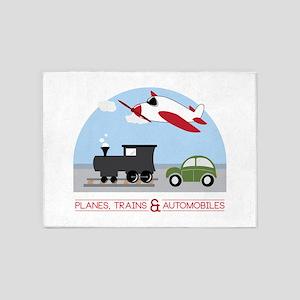 Planes,Trains& Automobiles 5'x7'Area Rug