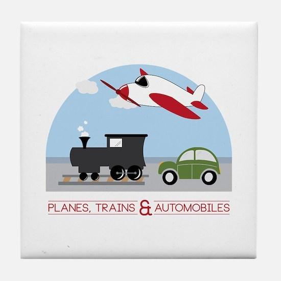 Planes,Trains& Automobiles Tile Coaster