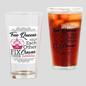 True Queens Drinking Glass
