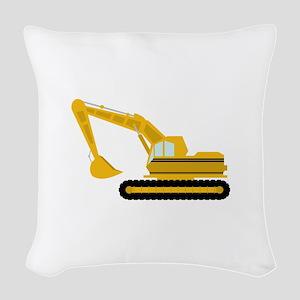 Excavator Woven Throw Pillow