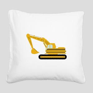 Excavator Square Canvas Pillow
