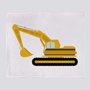 Excavator Throw Blanket