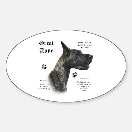 Brindle History Oval Decal