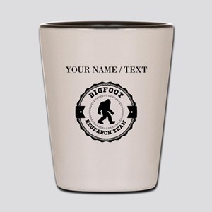Custom Bigfoot Research Team Shot Glass
