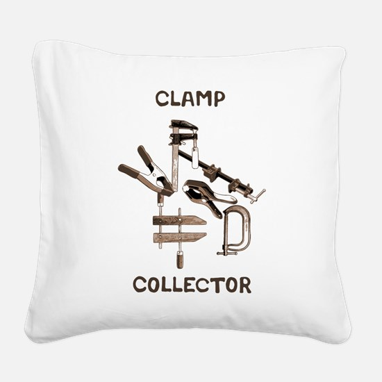 Clamp Collector Square Canvas Pillow