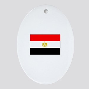 egypt flag Oval Ornament