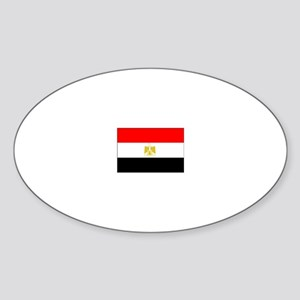 egypt flag Oval Sticker