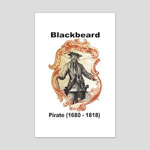 Blackbeard Pirate Mini Poster Print