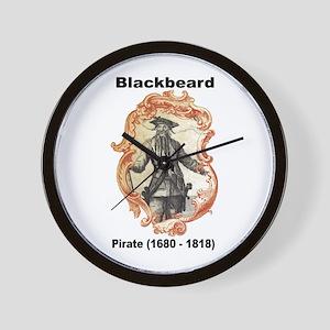 Blackbeard Pirate Wall Clock