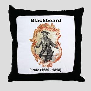Blackbeard Pirate Throw Pillow