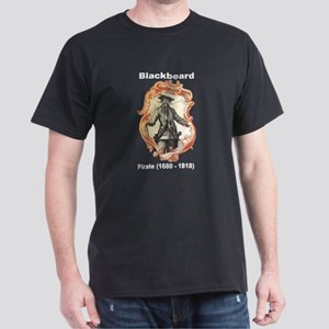 Blackbeard Pirate (Front) Dark T-Shirt