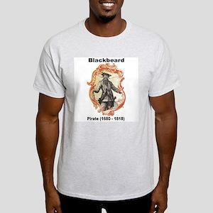 Blackbeard Pirate (Front) Light T-Shirt