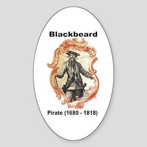 Blackbeard Pirate Oval Sticker