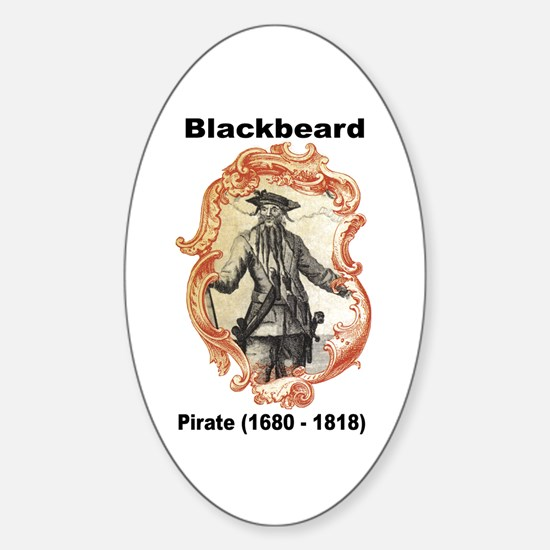 Blackbeard Pirate Oval Decal