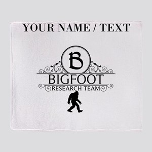 Custom Bigfoot Research Team Throw Blanket
