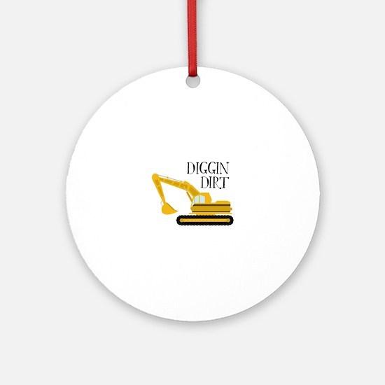 Diggin Dirt Ornament (Round)