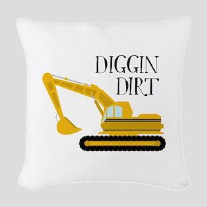 Diggin Dirt Woven Throw Pillow