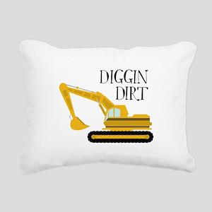 Diggin Dirt Rectangular Canvas Pillow