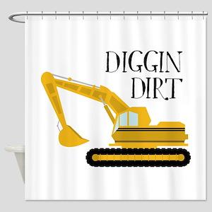 Diggin Dirt Shower Curtain