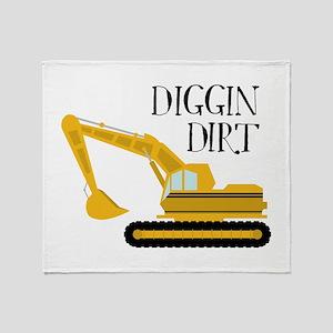 Diggin Dirt Throw Blanket