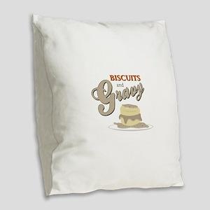 Biscuits & Gravy Burlap Throw Pillow