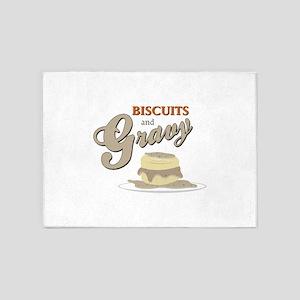 Biscuits & Gravy 5'x7'Area Rug