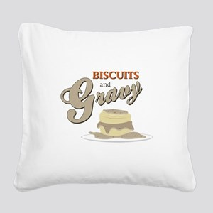 Biscuits & Gravy Square Canvas Pillow