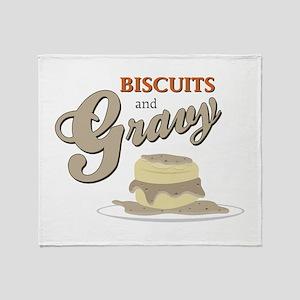 Biscuits & Gravy Throw Blanket