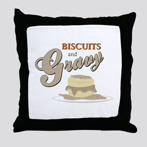 Biscuits & Gravy Throw Pillow