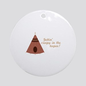 Creepy in the Teepee Ornament (Round)