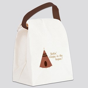 Creepy in the Teepee Canvas Lunch Bag
