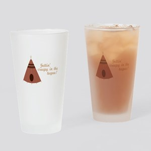 Creepy in the Teepee Drinking Glass