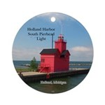 Holland Harbor South Pierhead Light Round Ornament
