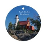 Eagle Harbor Lighthouse Round Ornament