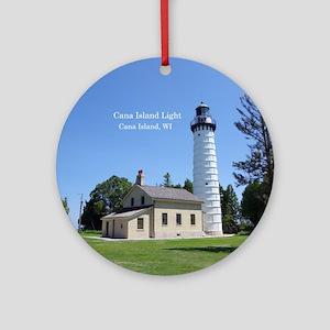 Cana Island Light Round Ornament