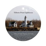 Tibbetts Point Lighthouse Round Ornament