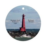 Muskegon South Breakwater Light Round Ornament