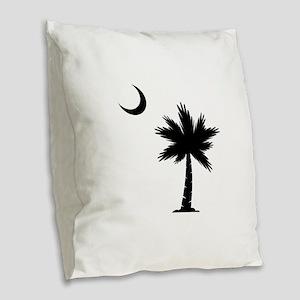 Palmetto Moon Burlap Throw Pillow