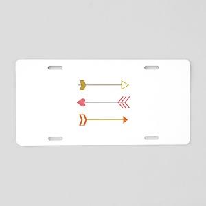 Cupids Arrows Aluminum License Plate
