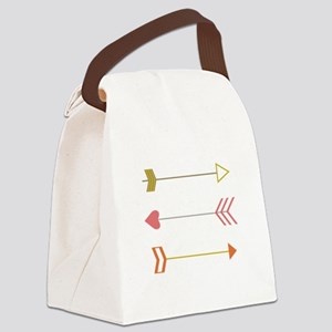 Cupids Arrows Canvas Lunch Bag