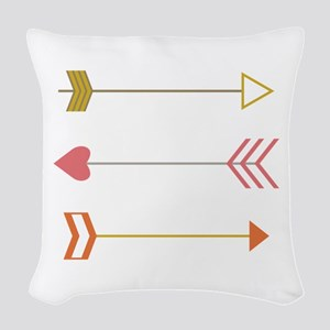 Cupids Arrows Woven Throw Pillow